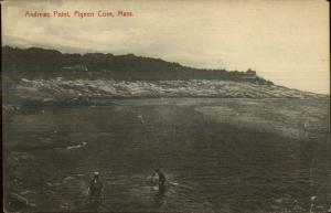 Pigeon Cove Rockport MA Andrews Point - c1910 Postcard