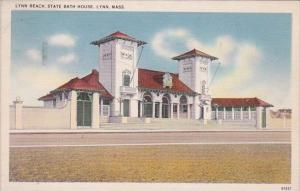 Massachusetts Lexington Lynn Beach State Bath House 1937
