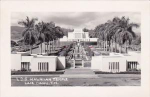 L D S Hawaiian Temple Laie Oahu T H Oahu Hawaii Real Photo