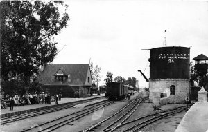 F55/ Acambaro Mexico Foreign RPPC c50s Postcard Fot Marvill Railroad Depot
