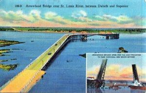 Duluth MN - Arrowhead Bridge over St. Louis River 1940s