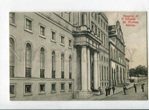 299926 PORTUGAL S.Michael-Azores Hospital of P.Delgada Vintage postcard