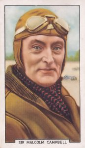 Malcolm Campbell Motor Race F1 Champion 1930s Cigarette Card