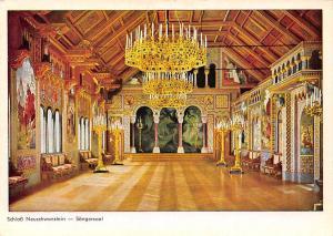 Schloss Neuschwanstein Saengersaal Castle Interior view Chateau