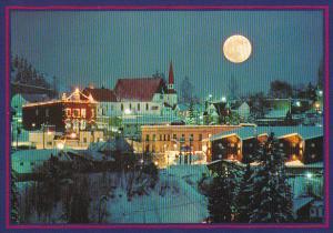 Rossland At Night Full Moon British Columbia Canada