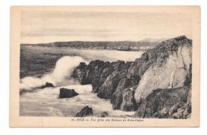France Nice Roba Capeu Prise des Rochers Rocks Sea Vintage X Goutagny Postcard