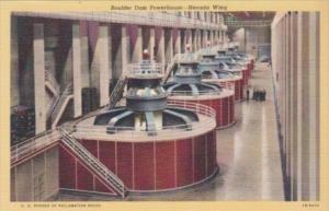 Nevada Boulder Dam Powerhouse Nevada Wing 1952 Curteich
