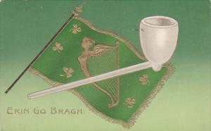 Erin Go Bragh, Flag with gold harp, Smoking Pipe, St. Patrick's Day, 00-10s