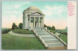 Vicksburg Mississippi~Illinois Monument National Military Park~Vintage Postcard