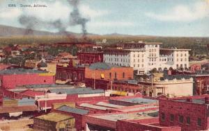 Tucson Arizona Birdseye View Of City Antique Postcard K102499
