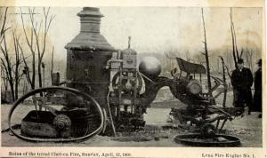 MA - Chelsea. Great Chelsea Fire- April 12, 1908. Lynn Fire Engine #1 Destroyed