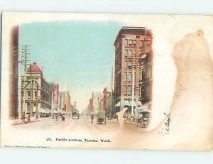 Pre-1907 STREET SCENE Tacoma Washington WA A0005