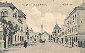 OBERNDORF a d SALZACH AUSTRIA~BRUCKENSTRASSE PHOTO POSTCARD