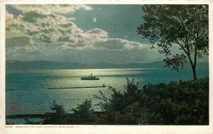 Burlington VT~Detroit Publshing #11042 Ship~Moonlight on Lake Champlain c1910