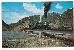 Train, The Silverton Narrow Gauge, Railroad Bridge, Elk Park, Colorado, 40-60´s