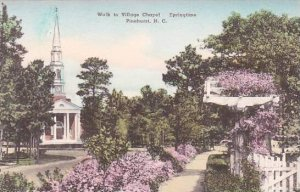 North Carolina Pinehurst Walk To Villege Chapel Springtime Albertype
