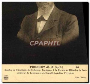Old Postcard Pouchet Member of & # 39Academie Professor of Medicine in the Fa...