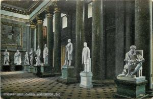 Washington DC~US Capitol Building~Interior~Statuary Hall~1910 Postcard