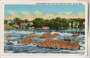 Pawtucketville Dam & Falls, Merrimack River, Lowell MA