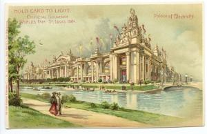 1904 St Louis Exposition Palace of Electricity HTL Hold to Light Postcard