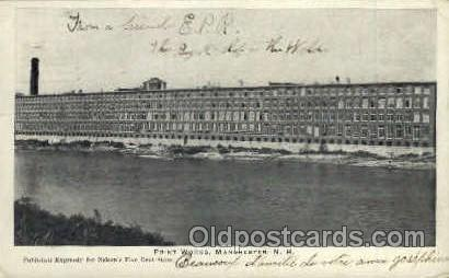 Print Works Manchester, NH, USA Postcard Post Cards Old Vintage Antique Manch...