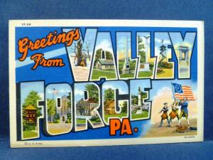Postcard PA Large Letter Greetings from Valley Forge