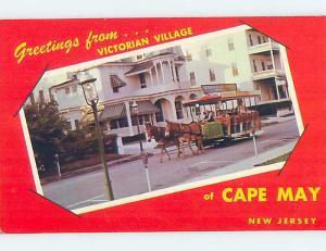Pre-1980 HORSE-DRAWN TOURIST STREETCAR AT VICTORIAN VILLAGE Cape May NJ F0549