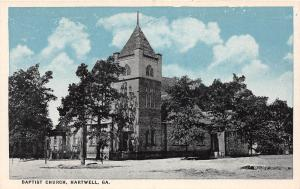 C20/ Hartwell Georgia Ga Postcard c1910 Baptist Church Building
