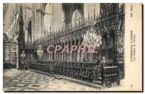 Old Postcard Amiens Cathedrale the stalls of the Choir