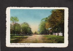 NY Broad St Street Plattsburg New York Scalloped Edge Postcard Vintage PC