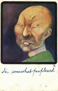china, Caricature Chinese Man, I'm somewhat Perplexed (1904) Tuck Postcard