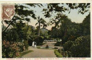 PC CPA MOZAMBIQUE LOURENCO MARQUES JARDIM MUNICIPAL Vintage Postcard (b26742)