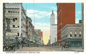 1920s Department Store Main Street MEMPHIS TENNESSEE Autos postcard 2011 KRESS