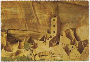 Square Tower House, Mesa Verde National Park, Colorado, 1971 used Postcard