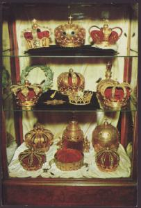 Replica Cown Jewels,Lightner Museum,St Augustine,FL Postcard