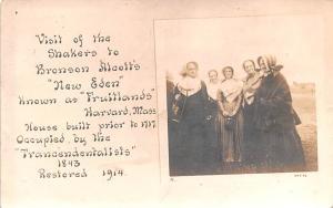Shaker Postcards Old Vintage Antique Post Cards Bronson Alcott's New Ede...