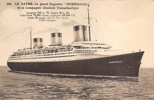 Normandie French Line Ship Unused