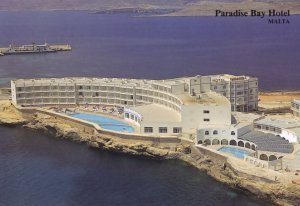 Paradise Bay Hotel Malta Postcard