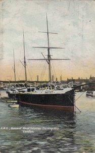 LONDON , England , 1907 ; H.M.S. BUZZARD Naval Volunteer Training Ship