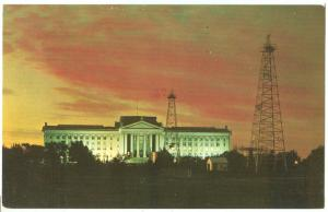 Oklahoma State Capitol and Oil Derricks, 1977 used Postcard