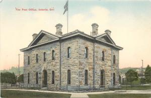1907-1915 Printed Postcard; Post Office, Astoria OR, Clatsop County, Unposted