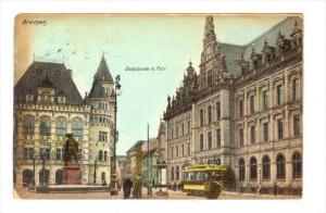 Bremen, Germany , PU-1907   Street view, Domshaide m. Post