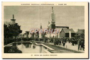Old Postcard International Colonial Exposition Paris 1931 Avenue of the Frenc...