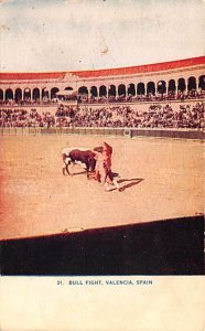 Bull Fight Valencia Spain Postal Used Unknown