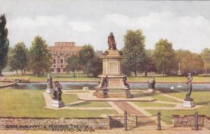 Gower Monument & Memorial Theatre, Stratford-upon-Avon (Warwickshire), Englan...