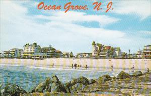 New Jersey Ocean Grove Beach Front Hotels Seen From The Rock Jetties