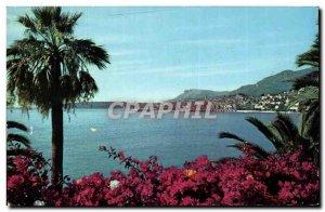 Postcard Moderne Menton Vue Generale De Galavan Jack In The Background Cap Ma...