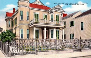 Louisiana New Orleans Ornamental Iron Corn Design Fence