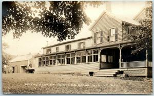 Vermont RPPC Photo Postcard Dining Room at VANTINE'S GRAND ISLE Unused c1920s