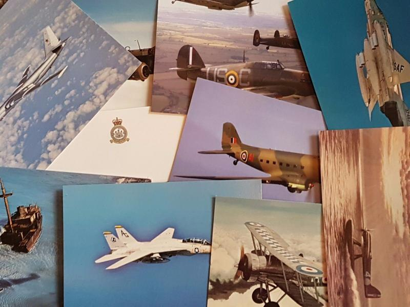 NEW Pack of 50 Military Aircraft Postcards Ideal for Postcrossing all different